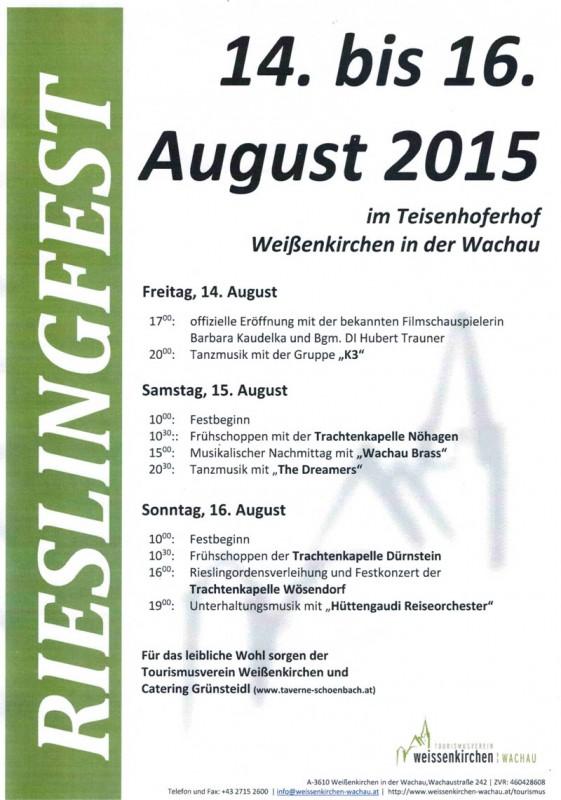 Plakat Rieslingfest