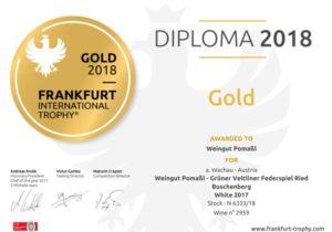 Urkunde Frankfurt Gold 2018