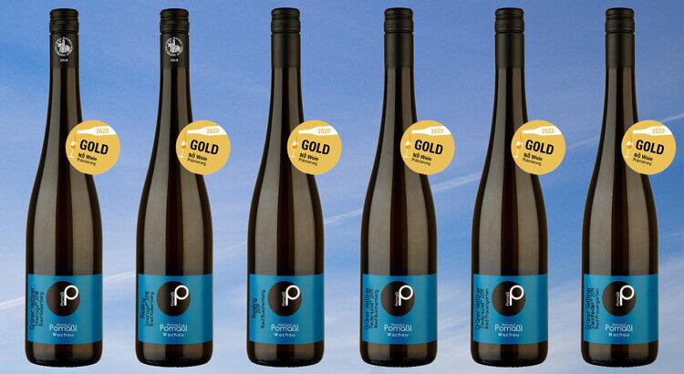 6 mal Gold NÖ Wein Prämierung